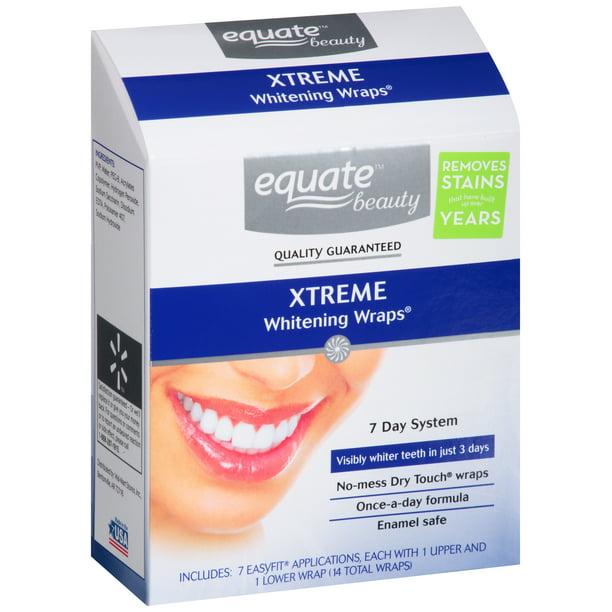 Equate 7 Day Dental Whitening System Advanced Whitening Wraps 14