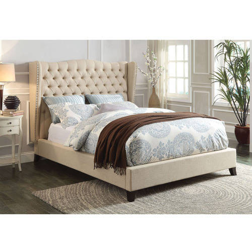 ACME Furniture Faye Beige Linen King Bed