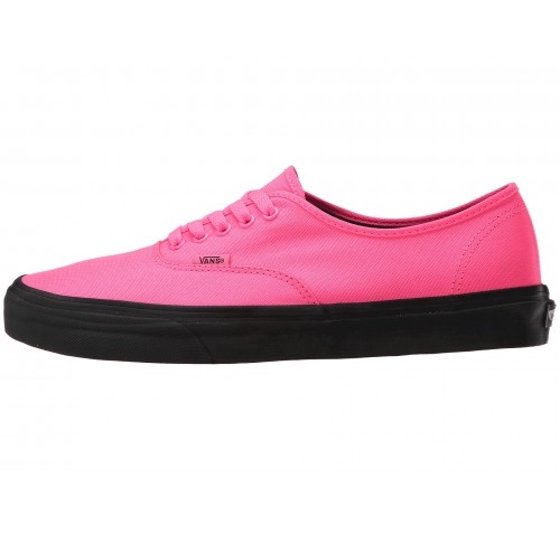 3372b672aa Vans Authentic Black Outsole Neon Pink / Ankle-High Canvas Fashion Sneaker  - 9.5M 8M