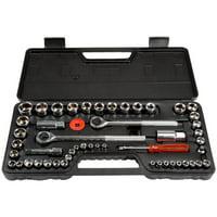 Stalwart 52-Piece 1/4, 3/8 and 1/2 Drive Socket Set SAE and Metric