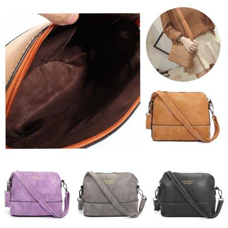 Women Vintage Leather Mini Crossbody Bag women Bag Handbag Tote Purse Messenger,Yellow color