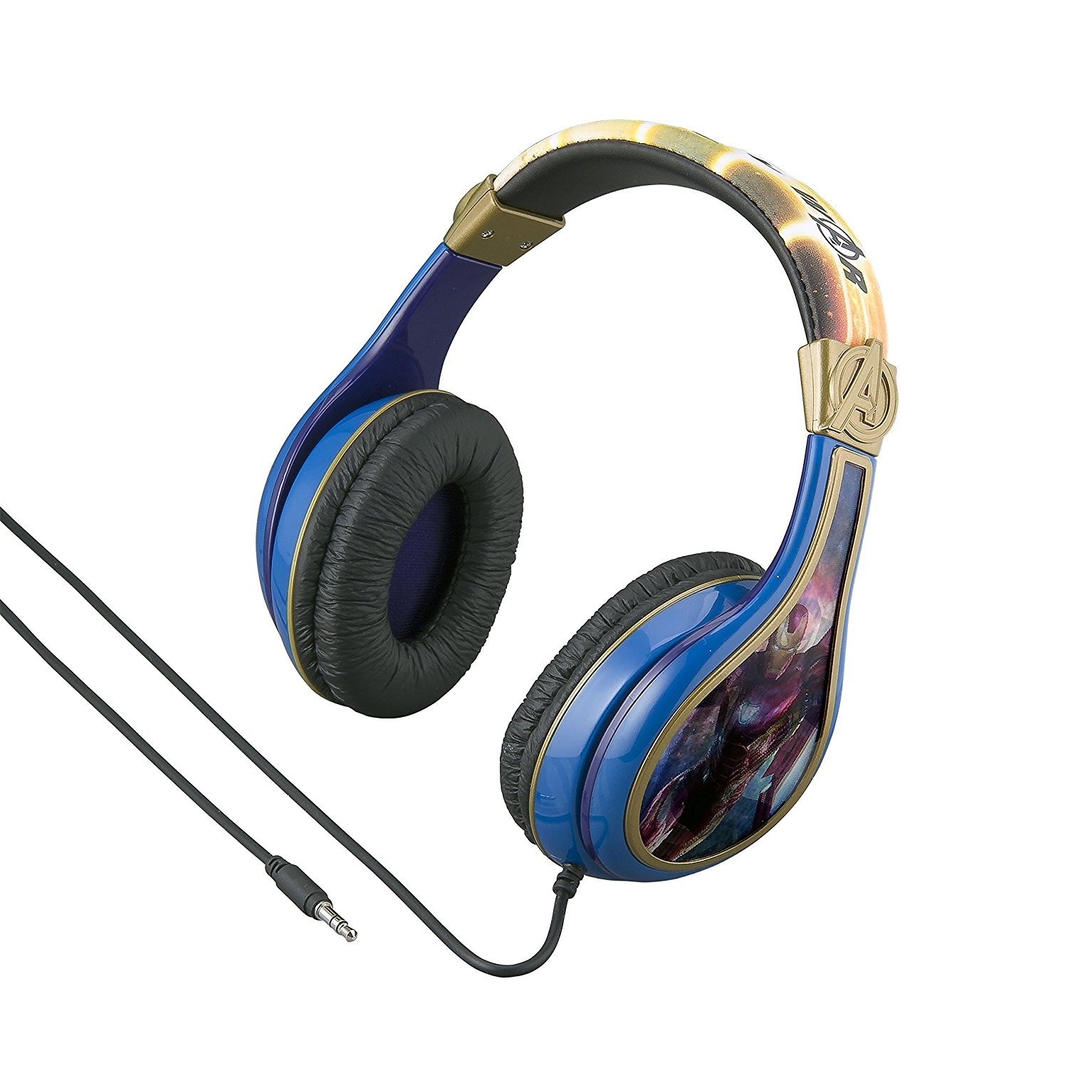 Avengers Infinity War Headphones for Kids with Built in Volume Limiting Feature for Kid Friendly Safe Listening