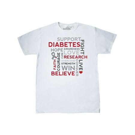 Diabetes Awareness Slogan Support Ribbon T-Shirt - Diabetes Awareness Ribbon