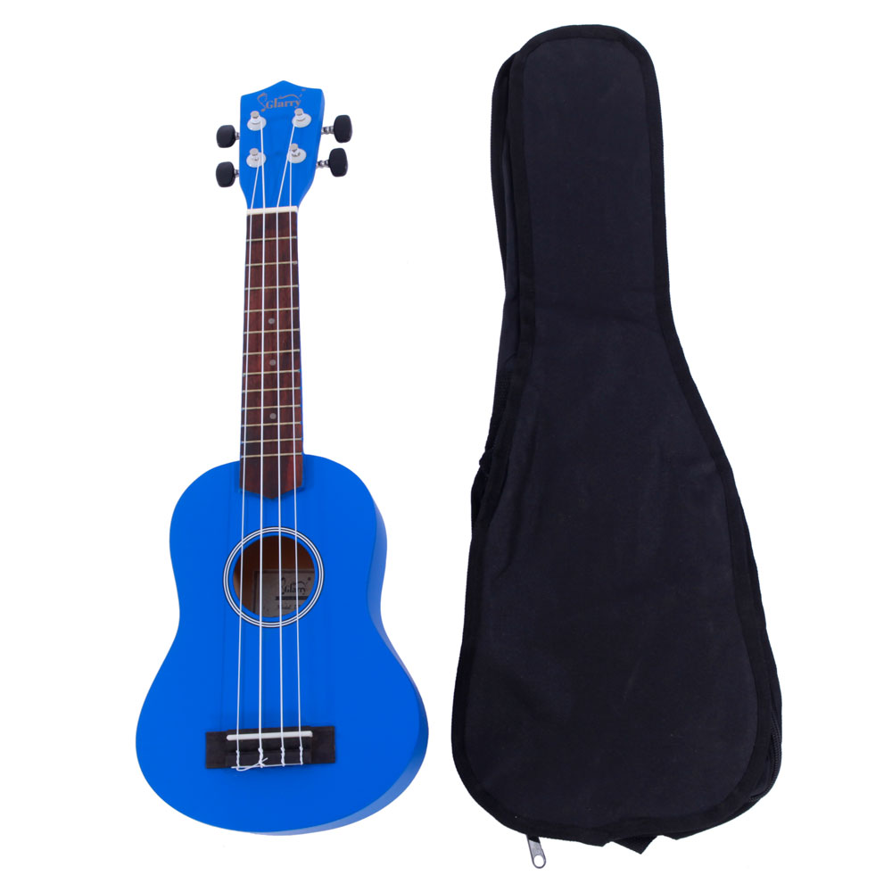 "Glarry UK101 21"" Basswood Ukulele Musical Hawaiian Guitar with Bag ,Blue"