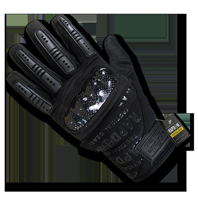 Carbon Fiber Combat Gloves, Black - Medium - image 1 of 1