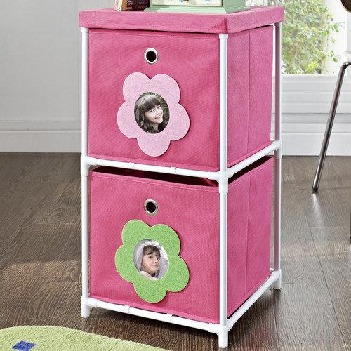Altra Furniture 2 Bin Storage Unit - Pink
