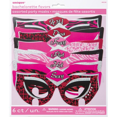 Bachelorette Party Masks, Assorted, 6ct - Bachelorette Party Masks
