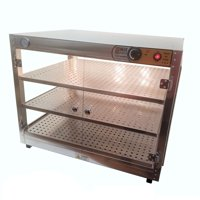 HeatMax Commercial Countertop Food Warmer With Water Tray 30x24x24 Display Case by Food Warmers