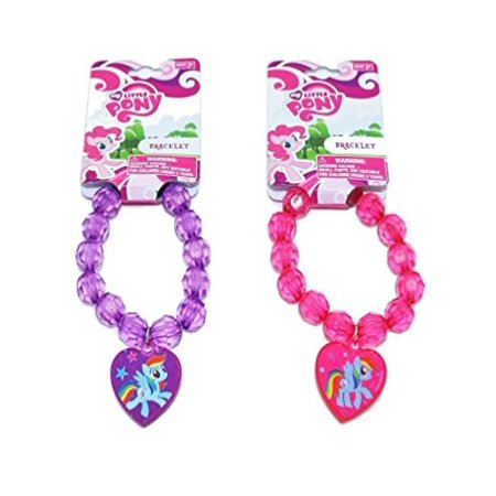 My Little Pony Beaded Bracelet with Heart Charm - Assorted - Pony Bead Bracelets