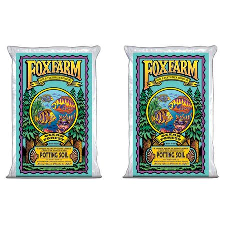 Foxfarm Ocean Forest Garden Potting Soil Bags 6.3-6.8 pH, 3 Cubic Feet (2 Pack) (Black Gold Soil 2 Cubic Feet)