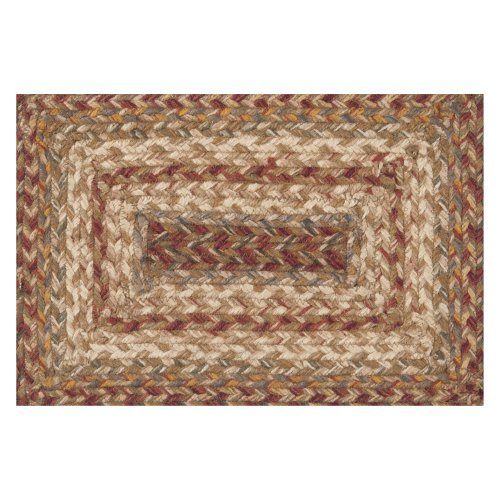 """1'8"""" x 2'6"""" Rectangular Accent Rug Red Clay/Wine Color Hand Braided in India """"Provincial Collection"""""""
