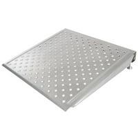 "Silver Spring 6"" High Aluminum Adjustable Threshold Ramp - 30"" L x 30"" W"