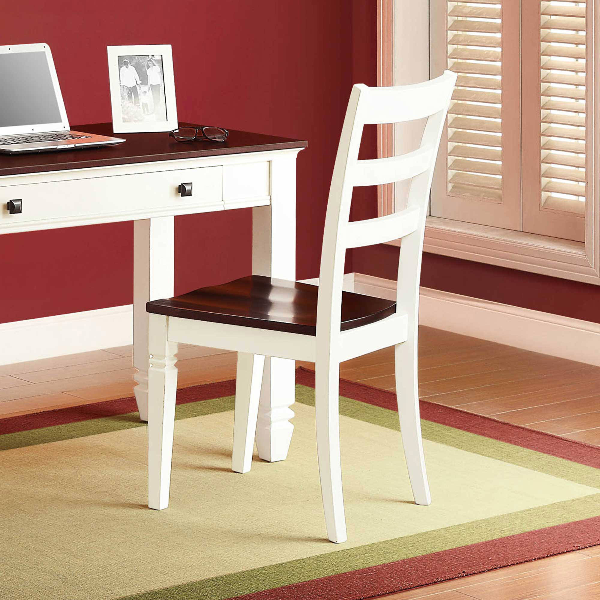 White and Cherry Desk Chair