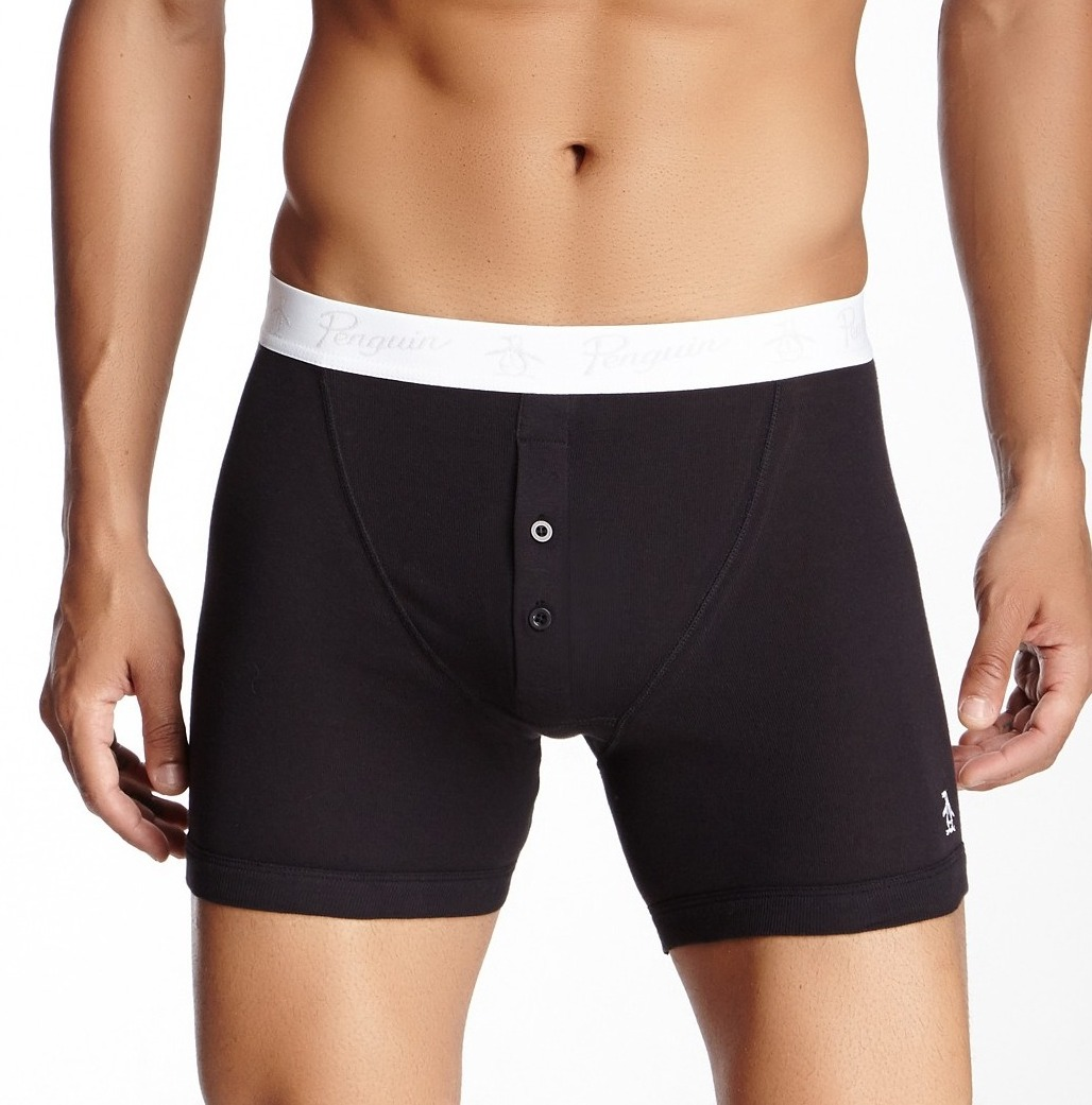 Penguin Munsingwear NEW Black White Mens Size XL Boxer Brief Underwear DEAL