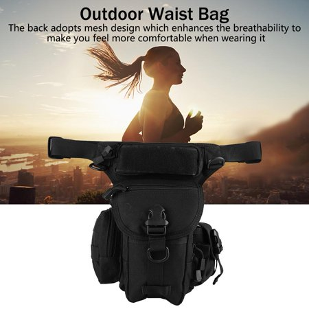 Qiilu Portable Outdoor Sport Hiking Travel Waist Pack Leg Bag for Cycling Camping,Cycling Waist Bag, Cycling Waist Pack - image 1 of 6