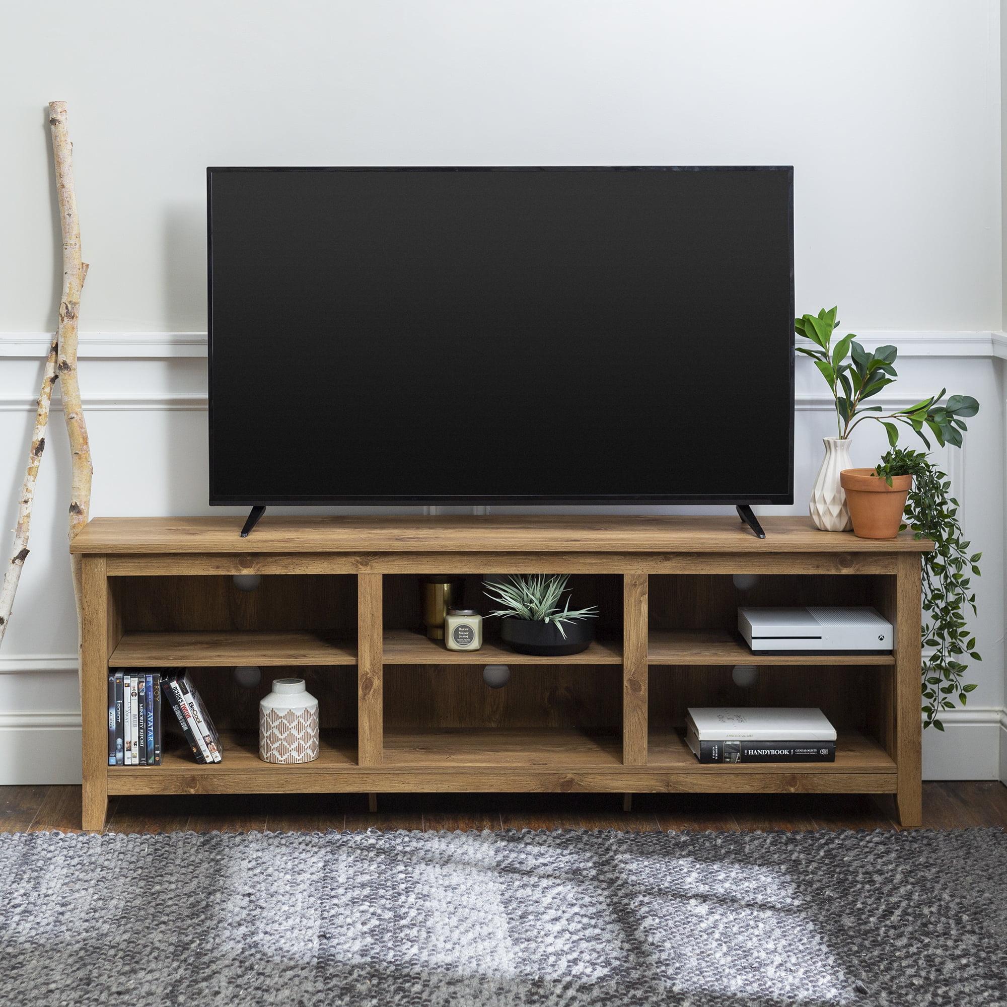 Manor Park Wood Tv Media Storage Stand For Tvs Up To 78 White Wash Walmart Com Walmart Com