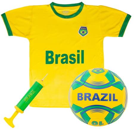 Brazil National Team Kids Soccer Kit - Medium