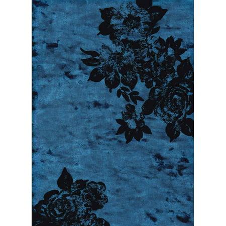 Crushed Velvet (FABRIC SELECTION 97%POLY 3%SPANDEX CRUSHED VELVET FLORAL FLOCKING 58/60