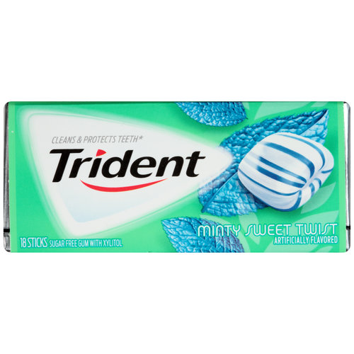 Trident Minty Sweet Twist Sugar Free Gum 18 pieces