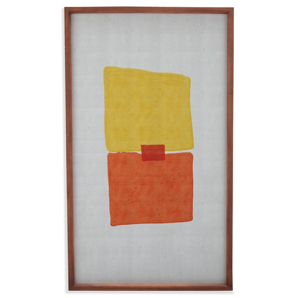 "Ojai Orange Abstract Wood I 22""x38"" Frame by Drew Barrymore Flower Home"