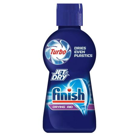 Finish Jet-Dry Turbo Dry, 6.76oz, Dishwasher Drying Aid, Dries Even Plastics