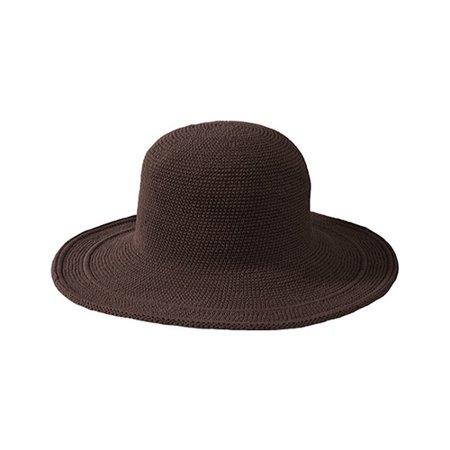 Women's San Diego Hat Company Cotton Crochet Hat Large Brim CHL5