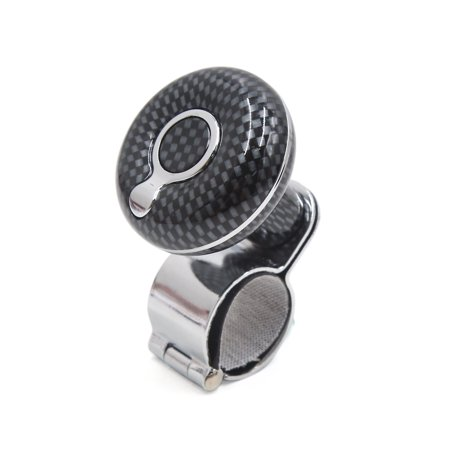 Slp Carbon Fiber - Carbon Fiber Pattern Non-slip Car Steering Wheel  Knob Auxiliary Booster