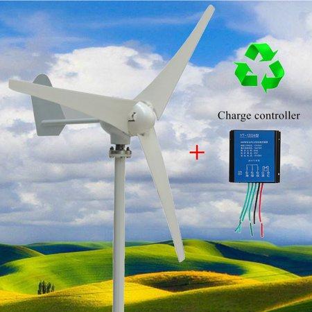 Turbine Kit (Wind Turbine Generator Wind Generator Kit  400W DC 12V/24V  3 Blade with Controller Max Power 500W for Marine RV Homes Industrial)