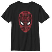 Marvel Boys' Spider-Man: Far From Home Alone Quote T-Shirt