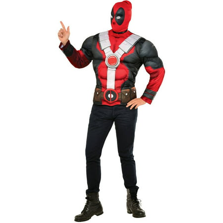 Deadpool Muscle Chest Men's Adult Halloween Costume - Deadpool Maid Costume