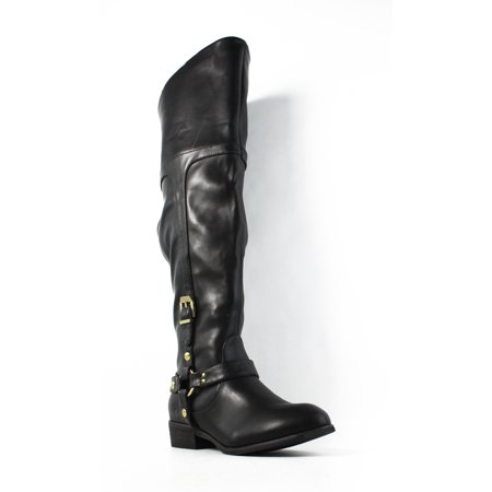Report Signature Womens Geena Black Fashion Boots Size 6 ()