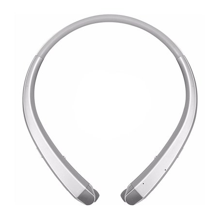 Wireless Bluetooth 4.0 NeckBand Headset Sport Stereo Retractable Headphone Earbuds Earphone with MIC Microphone(Silver)