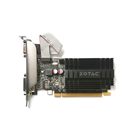 Zotac GeForce GT 710 Graphic Card - 954MHz Core - 2GB DDR3 SDRAM - PCI Express 2.0 - Low-profile - Single Slot Space Required - image 3 de 4