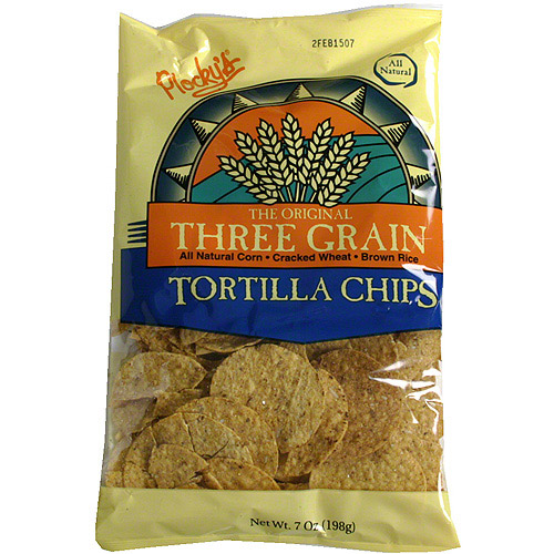 Plocky's Three Grain Tortilla Chips, 7 oz (Pack of 12)