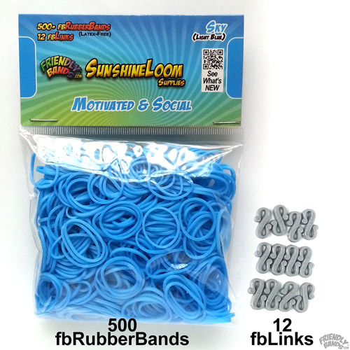 Friendly Bands Sunshine Bands Pack, Sky Blue