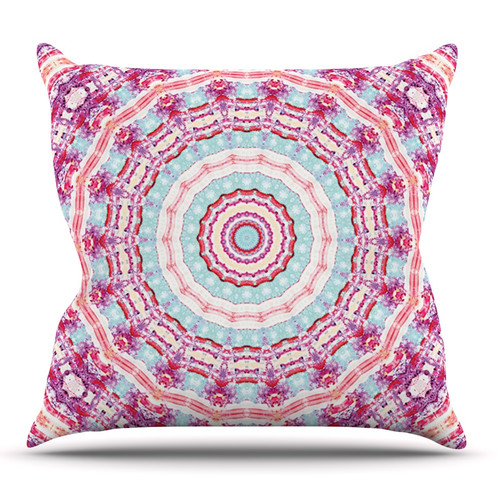 East Urban Home Happy by Iris Lehnhardt Outdoor Throw Pillow