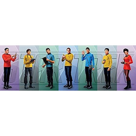 Poster Original Colour - Star Trek Crew Original Series Cast 36x12 Art Print Poster Gene Roddenberry Space Western