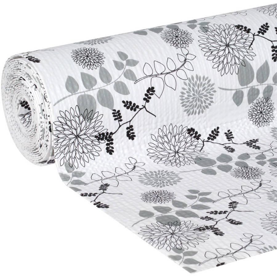 "Duck Brand Smooth Top Easy Shelf Liner, 12"" x 10', Midnight Bloom"