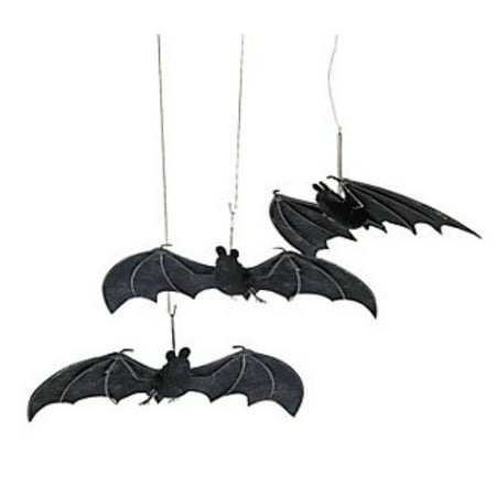 Set of 3 Fabric Hanging Bats Halloween Party Decorations (Halloween Party Items)