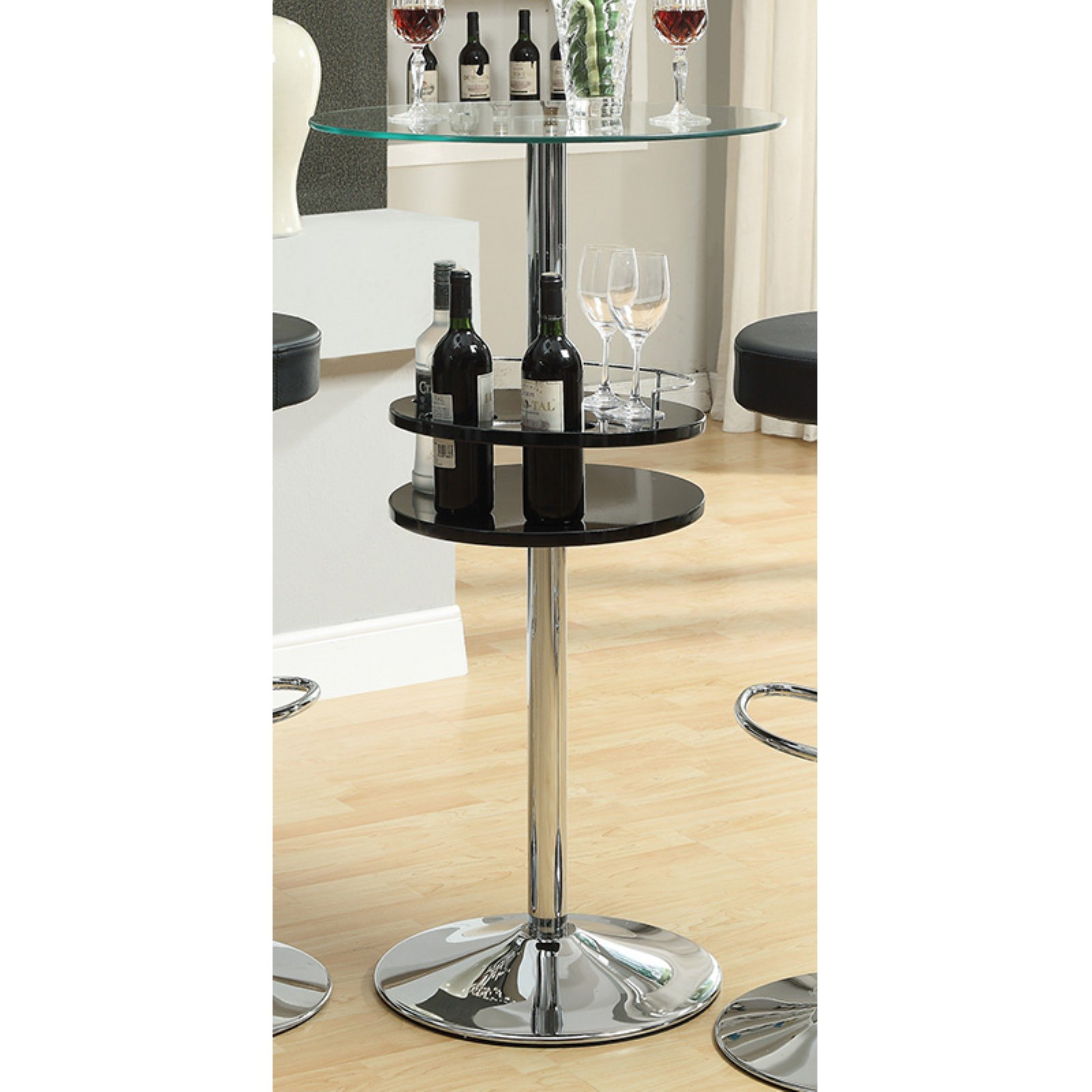 Coaster Furniture Bar Table With Wine Storage