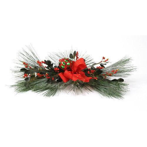 Distinctive Designs Silk Snow Pine Accent Topper (Set of 2)