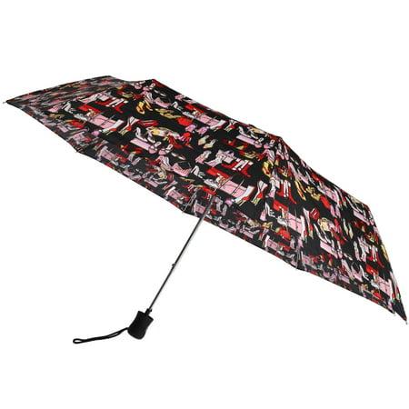 Leighton Women's Auto Open Accessory Print Compact Umbrella - image 2 of 3
