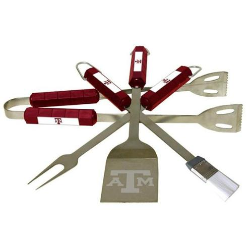 Bsi Products 61030 4 Pc Bbq Set - Texas A&M Aggies