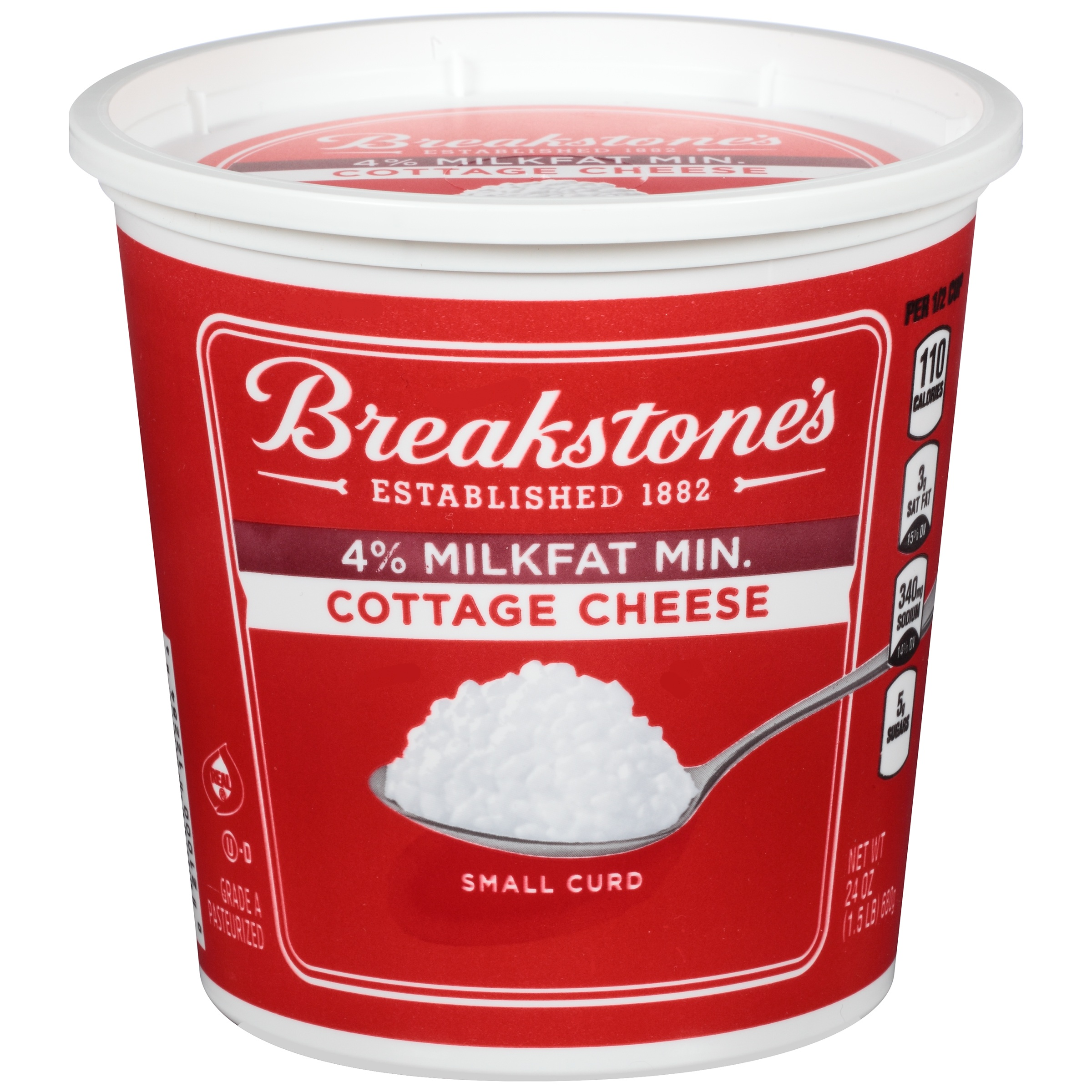 Image result for breakstone's 4% cottage cheese