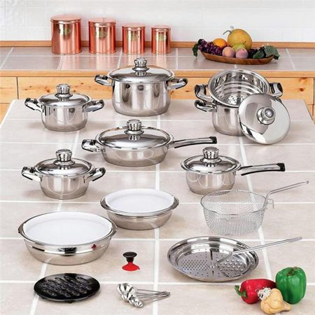 28pc 12-element High-quality  Heavy-gauge Stainless Steel Cookware
