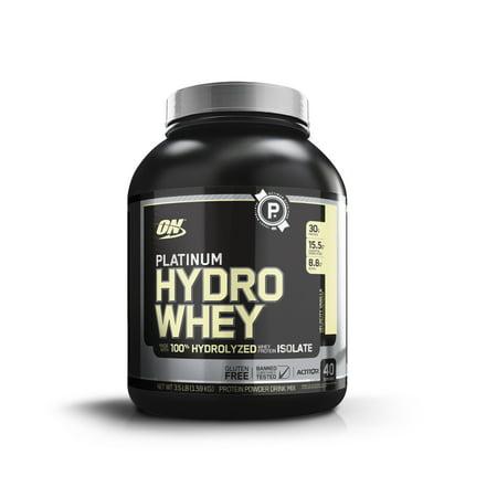 Optimum Nutrition Platnimum Hydrowhey Protein Powder, Velocity Vanilla, 30g Protein, 3.5