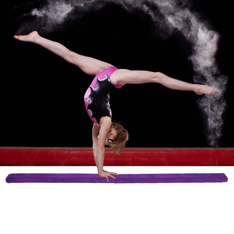 Folding Balance Beam Home Use,Gymnastics Balance Beam For Kids, Women,Foldable Gymnastics Balance Beam On Clearance by