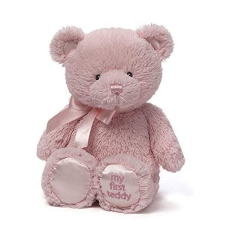 "Baby My First Teddy Bear Stuffed Animal Plush, Pink, 10"", Pink My First Teddy is perfect for cuddling or nursery decor By GUND"