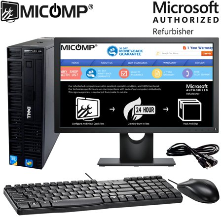 "Refurbished Dell (Optiplex Xe) Optiplex Xe SFF Desktop Computer Core 2 Duo 2.83Ghz 4Gb 500Gb Windows 10 Home 64 Bit Wifi 22"" Lcd"
