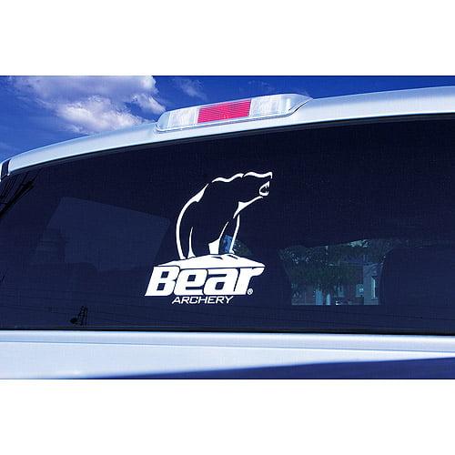 Bear archery white window decal walmart com